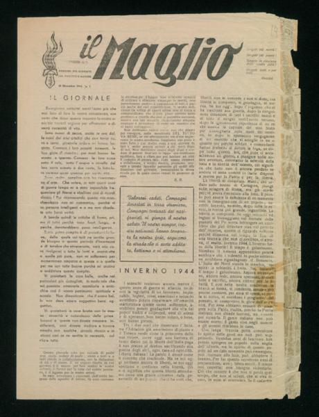 Il Maglio. Periodico n. 1, 25 dicembre 1944