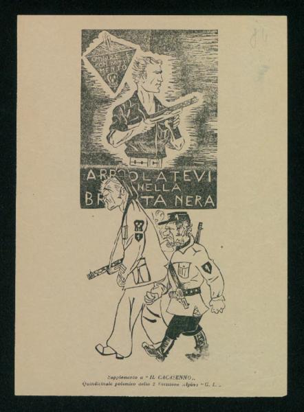 Supplemento a Il Cacasenno. Quindicinale polemico della 2 Divisione Alpina 'Giustizia e Libertà'