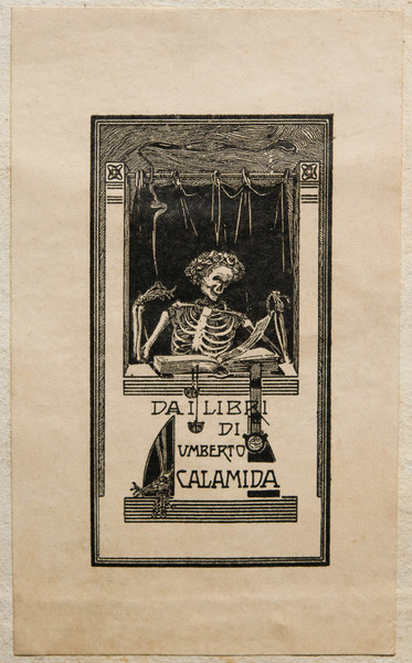 Bookplate of Umberto Calamida